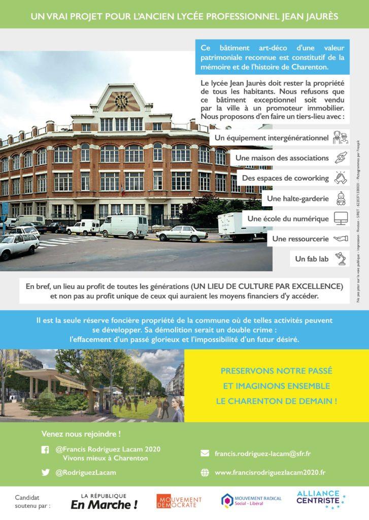 Un vrai projet pour l'ancien lycée professionnel Jean Jaurès